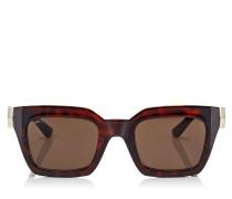 Maika Cat-Eye Sonnenbrille mit Gestell in Havana und braunen Gläsern