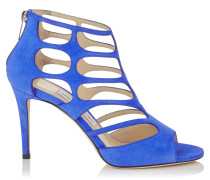 REN 85 Sandalen aus kobaltblauem Wildleder