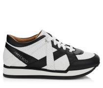 London Sneaker aus schwarz-weiß bedrucktem Leder