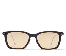 Ryan Eckige Sonnenbrille aus grauem Acetat mit silbernen Spiegelgläsern