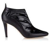 Dierdre 85 Stiefel aus schwarzem Nappaleder und Stretch-Material