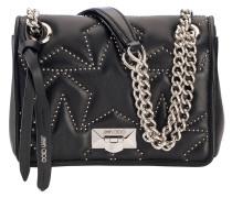 Helia Shoulder Bag/s Tasche aus schwarzem Nappaleder mit Matelassé-Optik