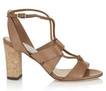 Margo 80 Sandalen aus braunem Vachetteleder