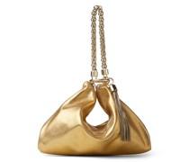 Callie Clutch aus goldenem Metallic-Leder mit Kettenriemen