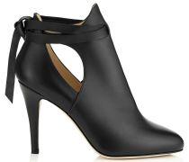 Marina 90 Stiefel aus weichem schwarzen Leder