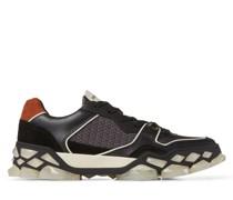 Diamond X Trainer/m Sneaker aus Kalbsleder in Schwarz Mix, Crosta-Wildleder und Nylon mit Print
