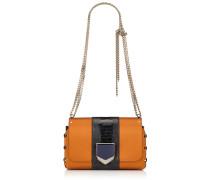 Lockett Petite Handtasche aus orangenem Satin mit Motiv