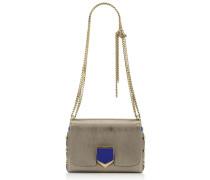 Lockett Petite Handtasche aus braungrauem Leder in Metallic-Optik