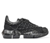 Diamond Laced/m Sneaker weichem Leder und technischem Netzgewebe in Schwarz Mix