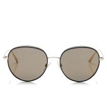 Ello Sonnenbrille mit schwarzem Metallgestell und Nietendetails