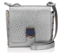 Lockett/xb Handtasche aus genarbtem Leder in Platin und Metallic-Optik