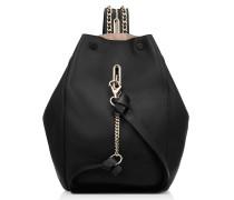 Echo/m Rucksack aus schwarzem Nappaleder