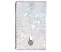 LIV Silberner Taschenspiegel mit holografischem Effekt