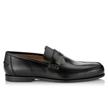 Darblay Black Shiny Calf Leather Loafers