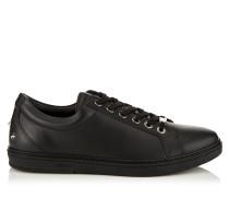 Cash Sneaker aus weichem schwarzen Leder