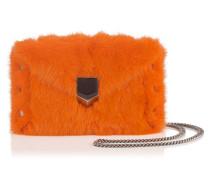 Lockett Envelope Mini Clutch mit orangenem Fell