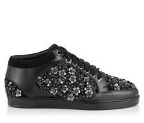 Miami Sneaker mit schwarzen Blumennieten