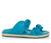 Nixon Flat Sandalen aus blauem Wildleder