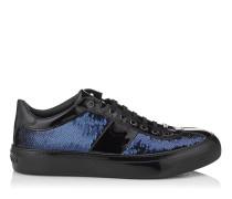 Portman Sneaker aus dunkelblauem Glitzerstoff