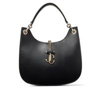 Varenne Hobo/m Handtasche aus schwarzem Kalbsleder mit JC Emblem