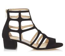 REN 35 Sandalen aus schwarzem Wildleder
