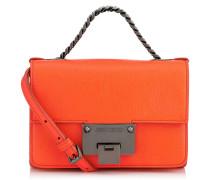 Rebel Soft Mini Umhängetasche aus weichem orangenem Ziegenleder