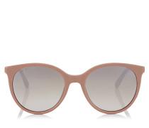 Erie Oversize Sonnenbrille in Nude mit Plexi Glitzerdetails