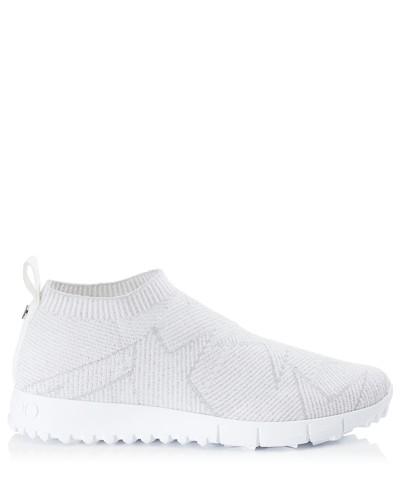 Norway Sneaker aus weißem Gewebe und Lurex