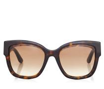 Roxie Oversize Sonnenbrille in dunklem Havana mit Sterndetails