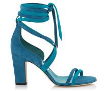 Flynn 85 Sandalen aus blauem Wildleder
