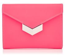 Leonie Portemonnaie aus mattem neonrosanem Kalbsleder
