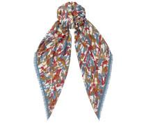 Egle H6S073030 Halstuch mit dunkelblauem, hellblauem und rotem Print