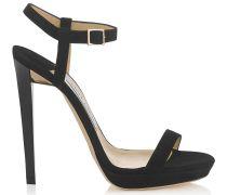 Claudette 120 Sandalen aus schwarzem Wildleder