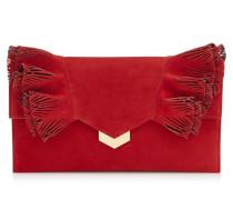 Isabella Clutch aus rotem Wildleder