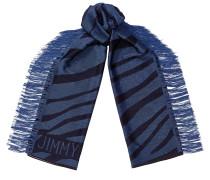 ZAY Schal aus gewebtem Jacquard und Zebramotiv mit Fransen