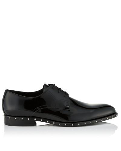 Axel Schnürschuhe aus schwarzem Lackleder