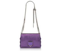 Lockett Petite Handtasche aus lilanem Leder in Metallic-Optik