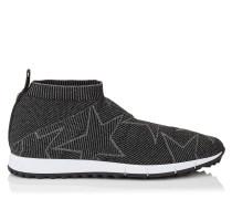 Norway/m Sneaker aus schwarz-grauem Lurex und Gewebe