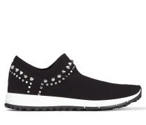 Verona Sneakers aus schwarzem Strickstoff mit Nietenverzierung