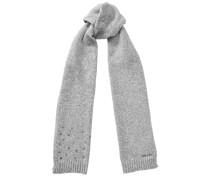 Holly Schal aus grauer Wolle mit kleinen Sterndetails