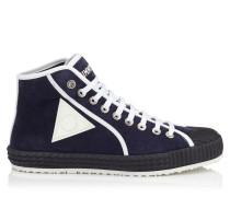 SEB High-Top-Sneaker aus blauem Wildleder