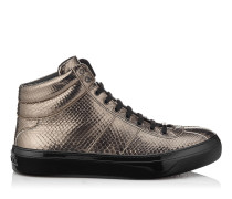 Belgravia Sneaker aus Pythonleder mit Metallic-Print
