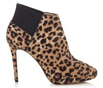 Talula 100 Stiefeletten aus Leder mit Fell-Print und Leopardenmotiv