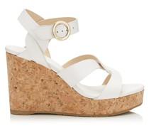 Aleili 100 Schuhe aus Vachetteleder in Latte mit Wedge und Schnalle