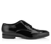 Penn Schnürschuh aus schwarzem Lackleder