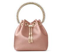 BON BON Handtasche aus Satin in Rosé