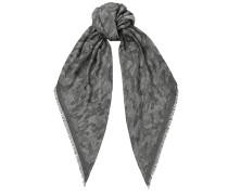 Mario H6S072930 Halstuch aus schwarzem gewobenem Jacquard