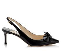 Blare 60 Slingback Schuhe aus schwarzem Lackleder