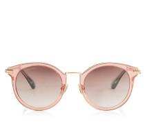 Raffy Sonnenbrille mit rundem Gestell und roten Glitzerdetails
