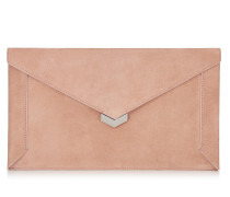 Lauren Clutch aus Ballettrosanem Wildleder
